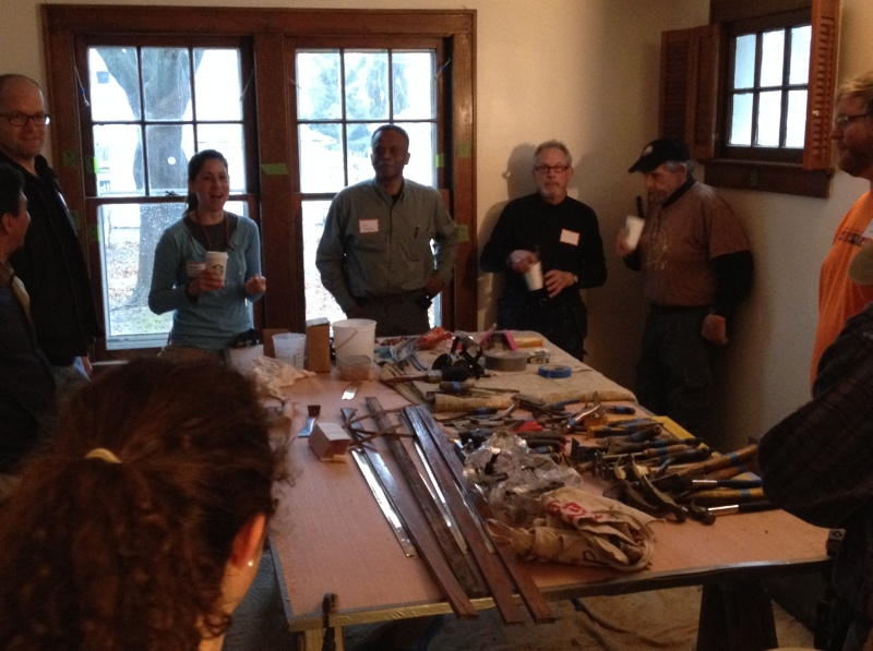 Jim Turner, center, of Turner Restoration, pumps up workshop attendees Saturday morning with equal parts knowledge and inspiration.