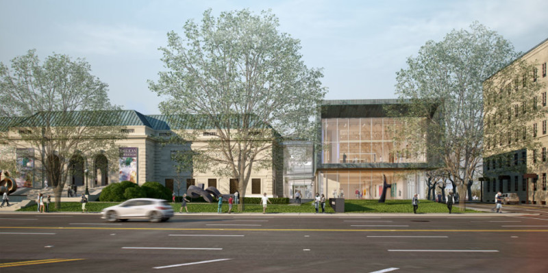 Rendering of the Columbus Museum of Art with New Wing (Image Source: www.columbusmuseum.org)